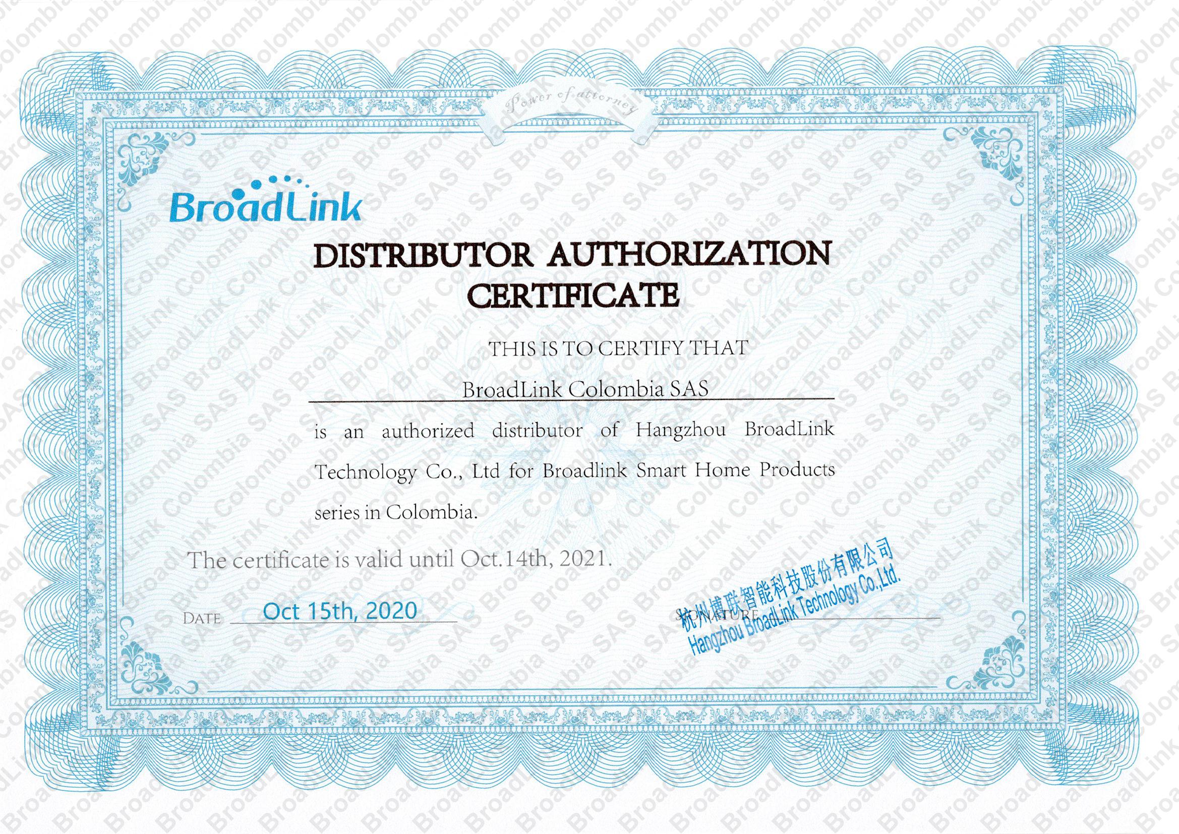 Distribuidor Autorizado de BroadLink para Colombia